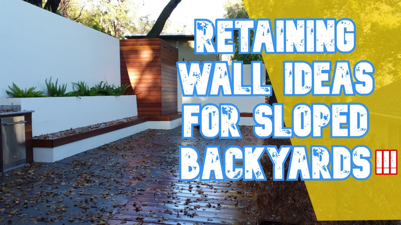 Retaining Wall Ideas For Sloped Backyards... All Access ... on Retaining Wall Ideas For Sloped Backyard id=64513