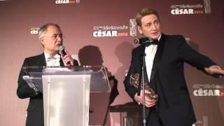 Benoît Magimel César 2016 du Meilleur Acteur dans un Second Rôle dans la tête haute