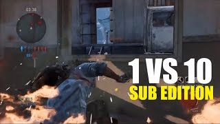 1 vs 10 Comeback (Sub Edition) - The Last of Us: Remastered Multiplayer (Lakeside)