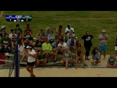 HBU vs Tulane Beach Volleyball 2017-04-29