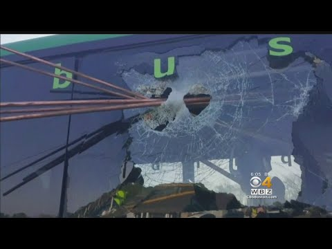 Pipes Crash Through Bus Window On Cape Cod