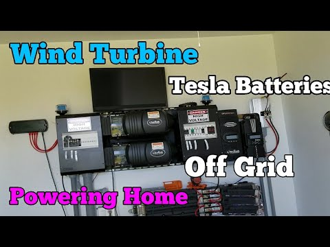 Wind Turbine Over 1,300 watt Tesla Batteries Powerwall