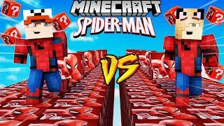 SZALONY WYŚCIG! - SPIDERMAN LUCKY BLOCKI MINECRAFT! (Lucky Block Race) | Vito vs Bella