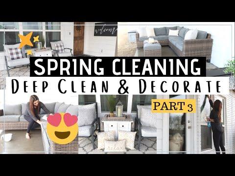SPRING CLEAN & DECORATE WITH ME   PORCH + PATIO DECORATE   Til Vacuum Do Us Part