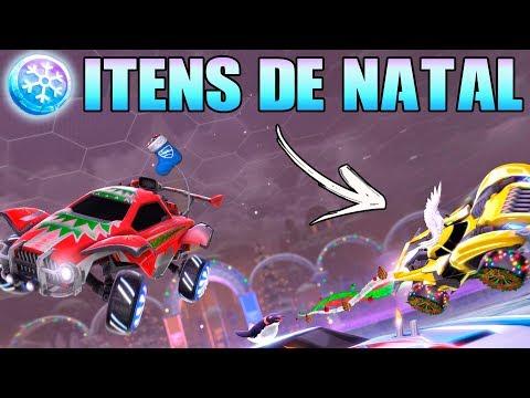 COMPREI TODOS OS ITENS DE NATAL - Rocket League