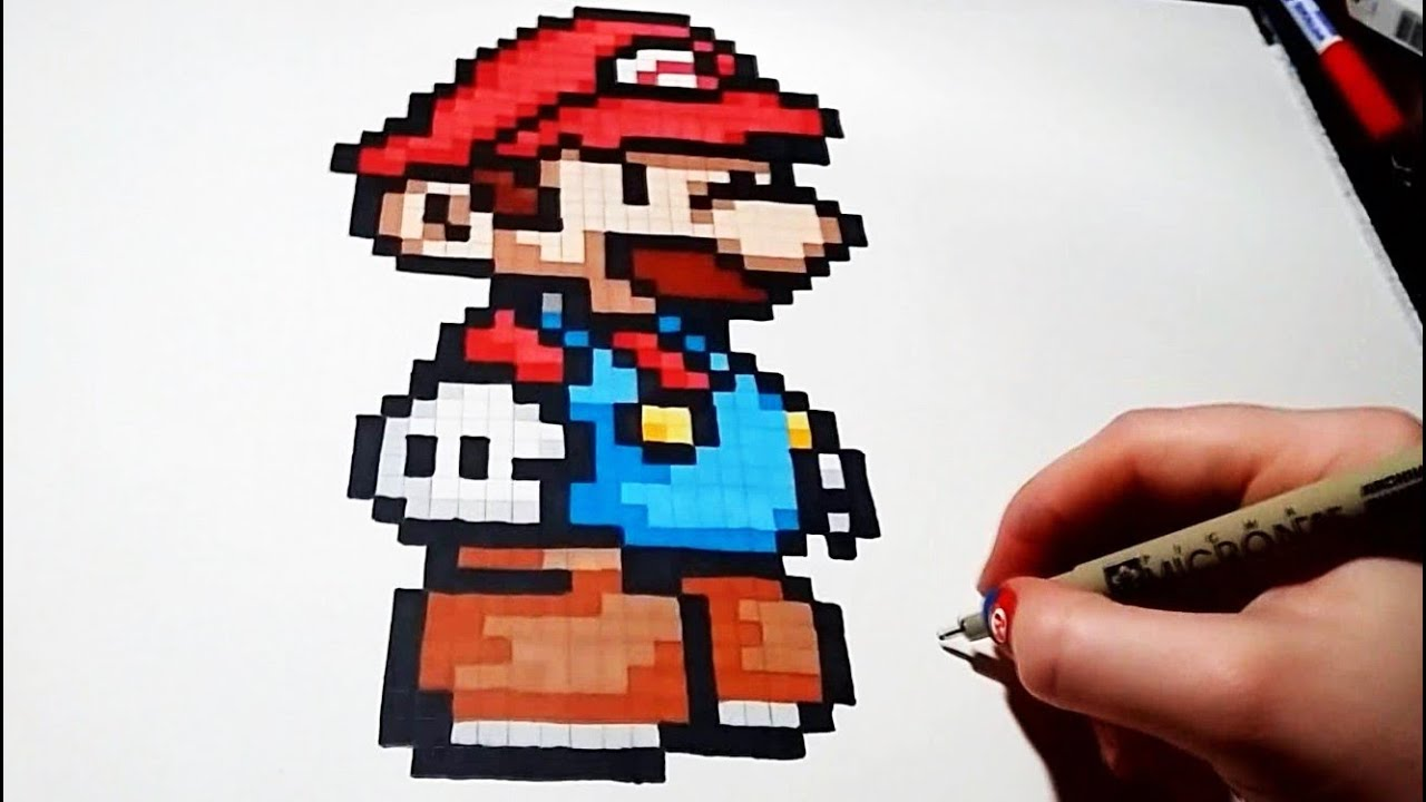 Pixel Art Mario Step By Step