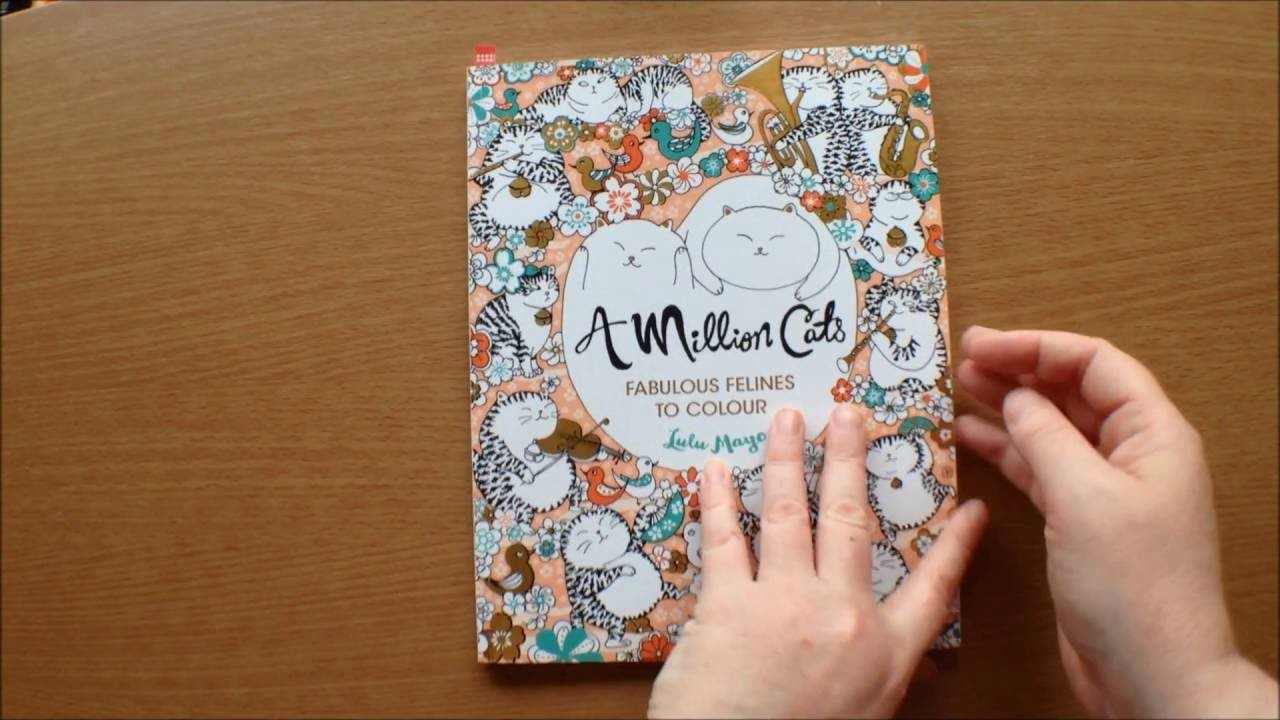 A Million Cats By Lulu Mayo Colouring Book Flipthrough