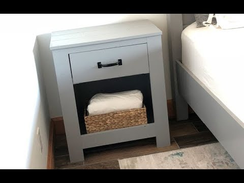 DIY: Easy to Build Farmhouse Nightstand with Homemade Drawer Slides