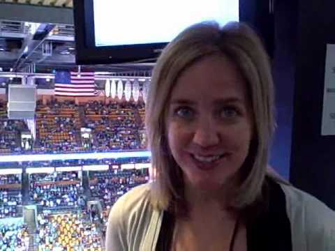 Boston Herald MediaBiz columnist Jessica Heslam at Game 4 of the NBA Finals
