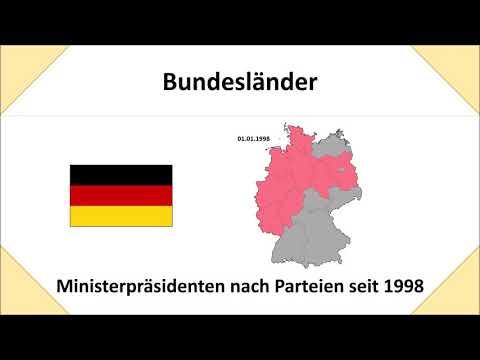 Parteien der Ministerpräsidenten seit 1998 in Deutschland