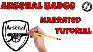 Learn to Draw Soccer badges|How to Draw Arsenal Badge|How to draw Football badges|logos||