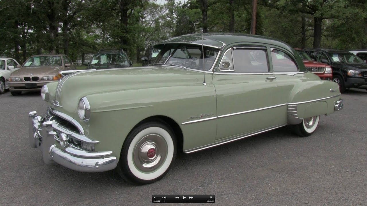 1949 pontiac chieftain deluxe 8 start up  exhaust  and in