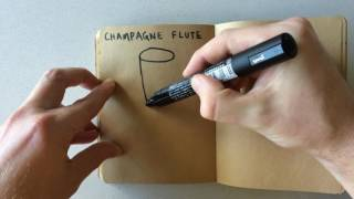 How to Draw a Champagne Flute