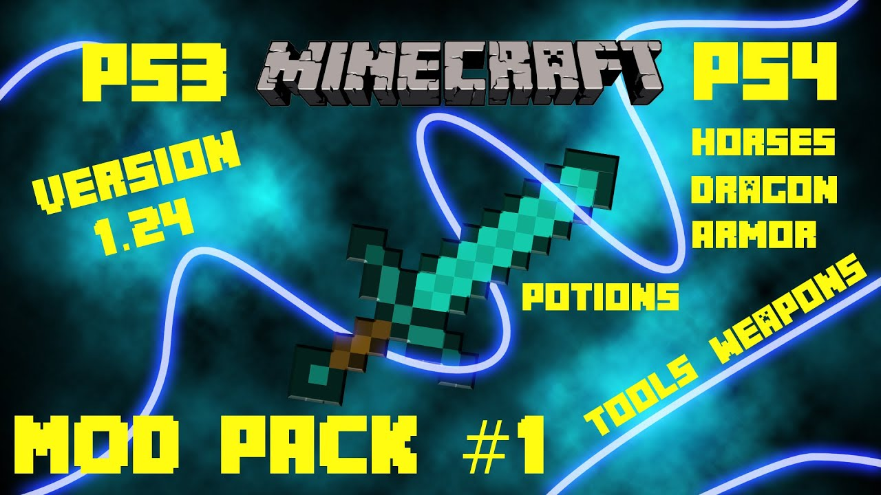 Minecraft - PS3 / PS4 Mod Pack #1 - Free Download In Description