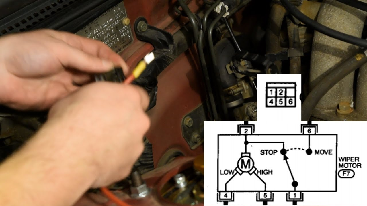how to wire a custom wiper switch s14 240sx youtube s14 wiper motor wiring diagram how [ 1280 x 720 Pixel ]