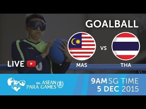 Goalball Men's Thailand vs Malaysia | 8th ASEAN Para Games 2015