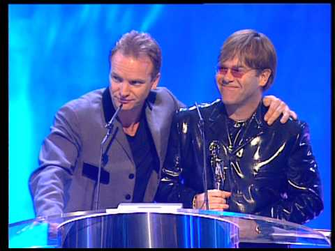 Elton John wins Outstanding Contribution presented by Sting | BRIT Awards 1995 Mp3