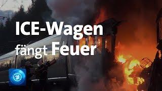 Zug in Flammen - ICE fängt Feuer