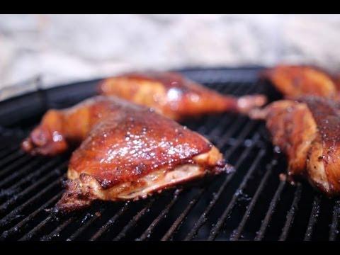 BBQ Chicken on my WSM