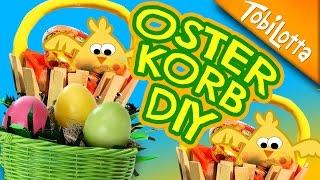 Osterkorb LAST MINUTE Geschenkidee DIY, ostern basteln, kinderkanal, Tobilotta 103