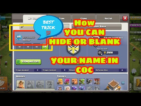 How To Invisible Your Name In Coc.🎉🎉