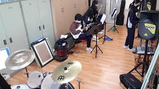 화이트 (핑클) 팔달중 밴드부 첫합주연습