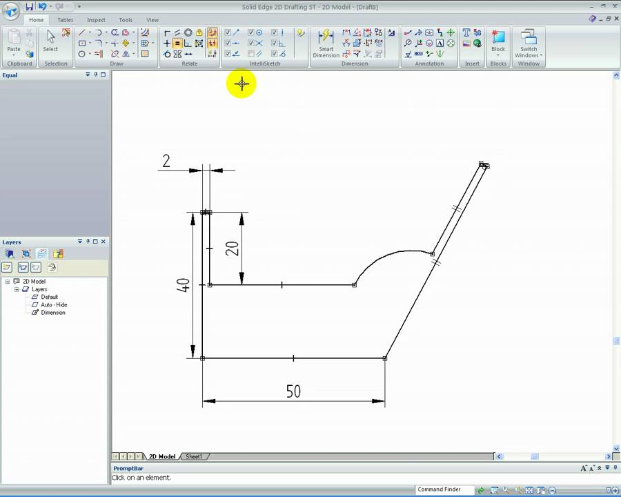 Solid edge 2d drafting parametric youtube for Online 2d drafting software
