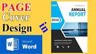 How to Design A Title Page Cover-Book Cover- Report Cover-Brochure in MS Word in Urdu Hindi