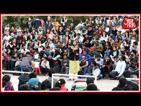 JNU Students Protest At Admin Block Over UGC