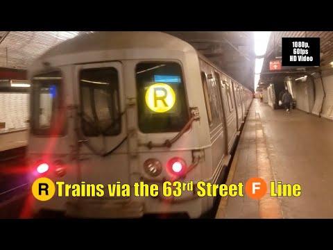 MTA New York City Subway: (R) Trains Via The 63rd Street Connector (F) Line