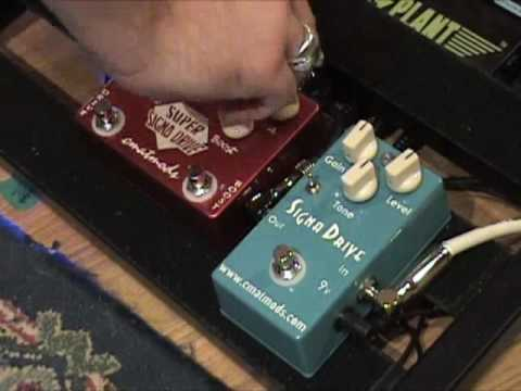 CMATMODS Signa Drive Versus Super SignaDrive Guitar Effects Demo Overdrive Comparison