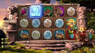 Gnome Wood Slot BIG WIN Game Play by Microgaming