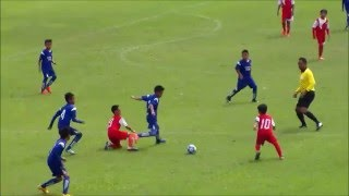 Tim Bandung Legend Biru pada Babak Semi Final Piala Danone 2016 Wilayah Jawa Barat
