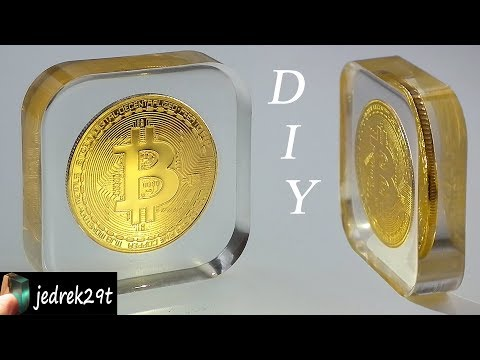 DIY. Bitcoin in Resin / Bitcoin w żywicy