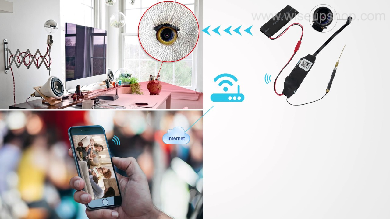 Full HD 1080P Mini Spy Camera Wireless WIFI IP Night Vision Hidden DIY Module