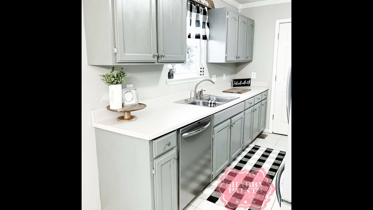 Chalk Painted Kitchen Cabinets - VAX never wax. - YouTube