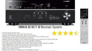 yamaha rx v677 av receiver system