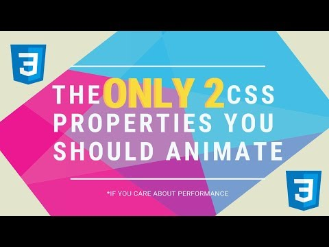 The Only 2 CSS Properties You Should Animate * thumbnail