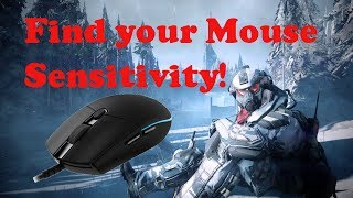 WARFACE: Best trick to find your Mouse sensitivity!