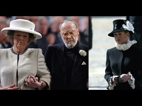 Prinses Juliana & Prins Bernhard bijgezet in Delft.