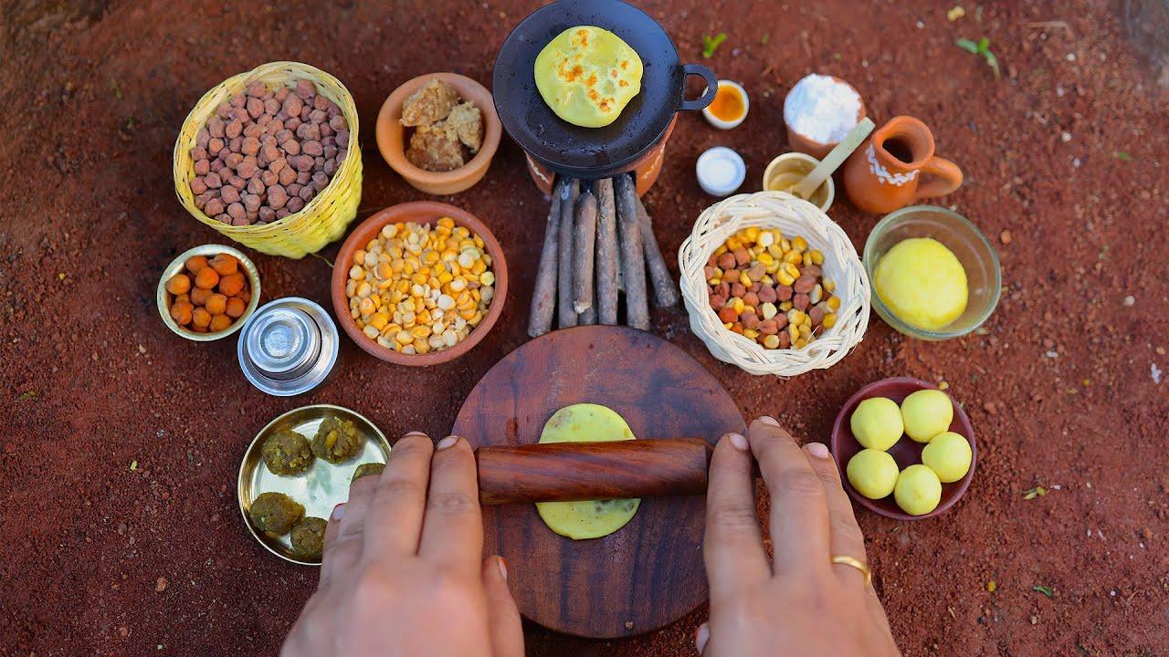 Sweet Poli - Puran Poli Recipe | Maharashtrian Puran Poli | Indian Sweet Recipes | The Tiny Foods