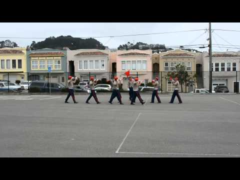 SFUSD JROTC Abraham Lincoln High School Flag Drill Team Spring Competition 2014 - 2015