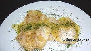 Filetes de perca con salsa de limón