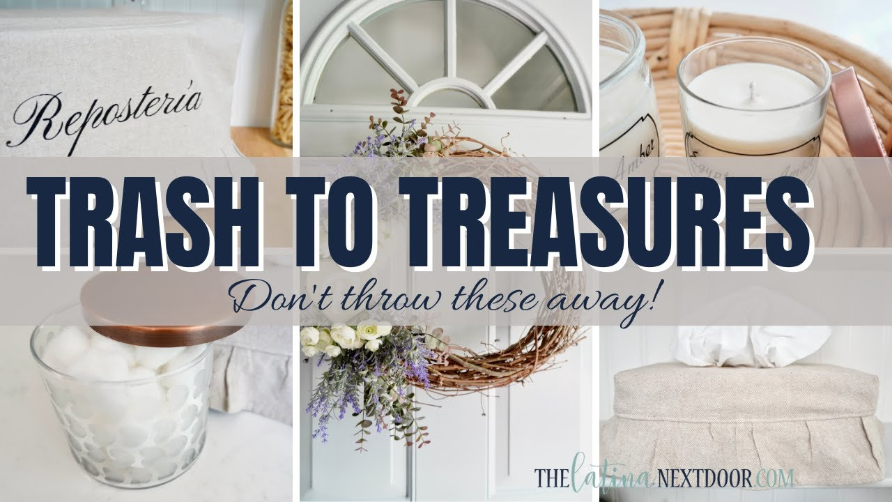 *GORGEOUS* TRASH TO TREASURE DIYs | Neutral Home Decor DIYs | Reuse & Repurpose Items in Your Home