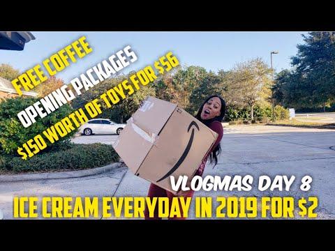 Dollar General $5/$25 , Free Coffee & Ice Cream, Vlogmas
