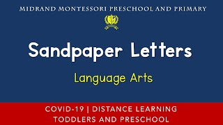 Montessori Language Arts Presentation - Sand Paper Letters