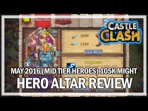 Castle Clash - Hero Altar Review W/ Jonlaw98 (May 2016 Gameplay)