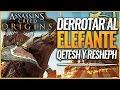 Assassin's Creed Origins | Trofeo / Logro Más dura será la Caída | elefantes Qetesh y Resheph