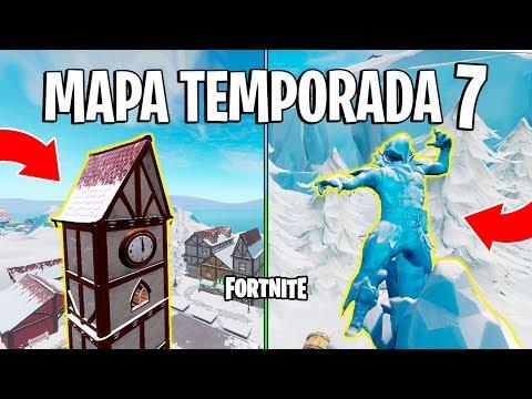 FORTNITE - MUDANÇAS NO MAPA TEMPORADA 7! (Estátua Corvo, RIP Bosque, Novos Locais)
