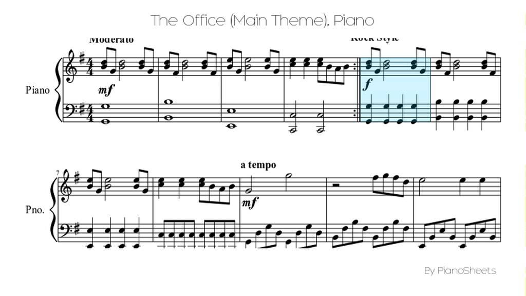 The Office (Main Theme) Piano Solo - YouTube